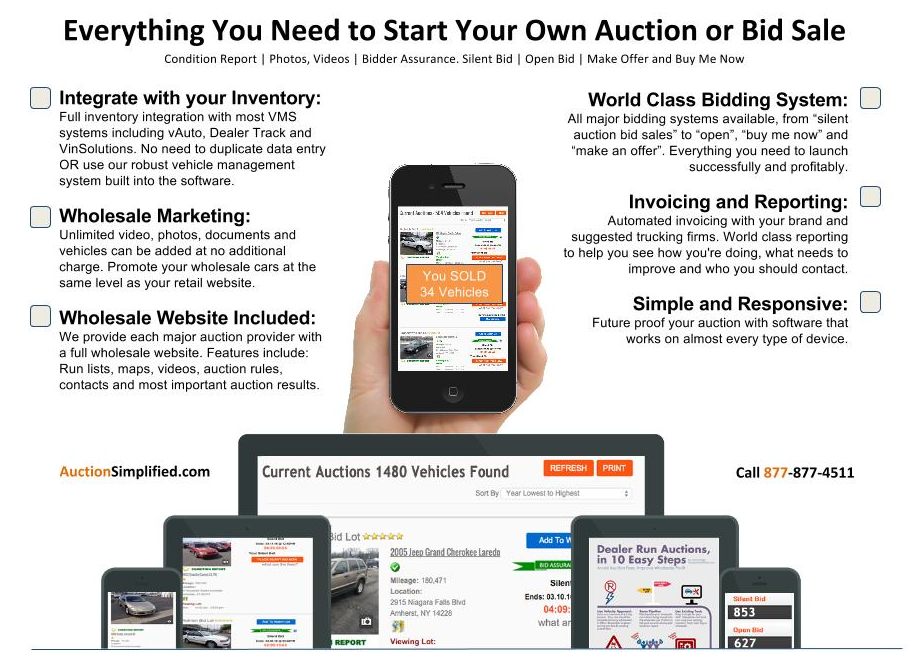 dealer simplified auction software used car classified and payment menu. Black Bedroom Furniture Sets. Home Design Ideas